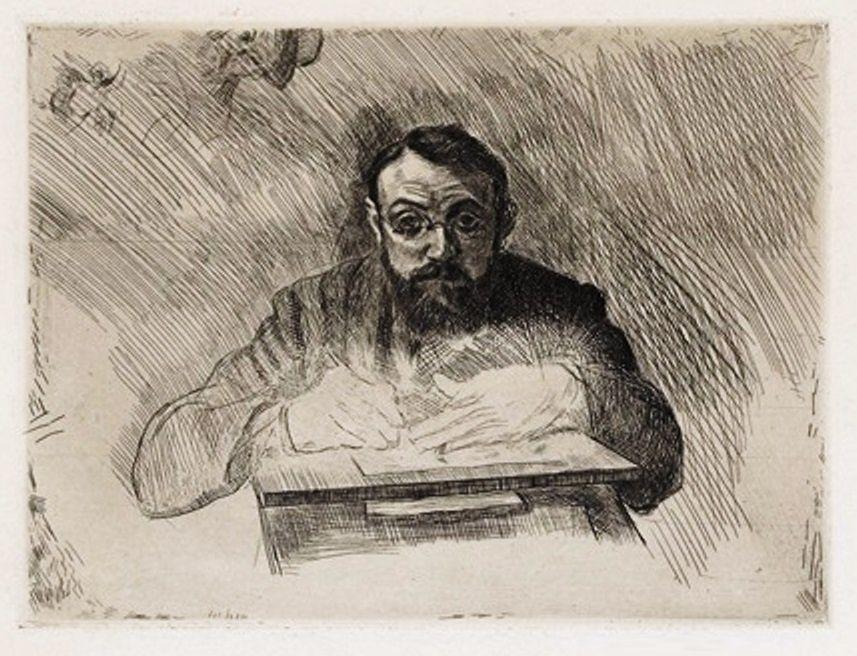 """Autoportrait """"Henri Matisse gravant"""" (vers 1903), presqu'une case de BD...."""