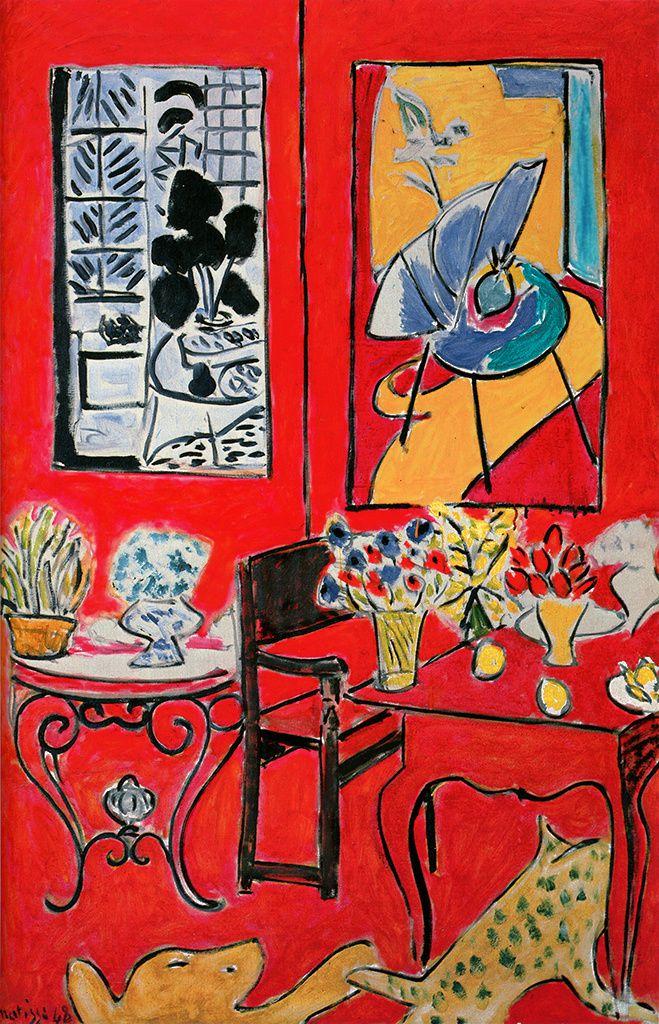 Grand intérieur rouge, printemps 1948