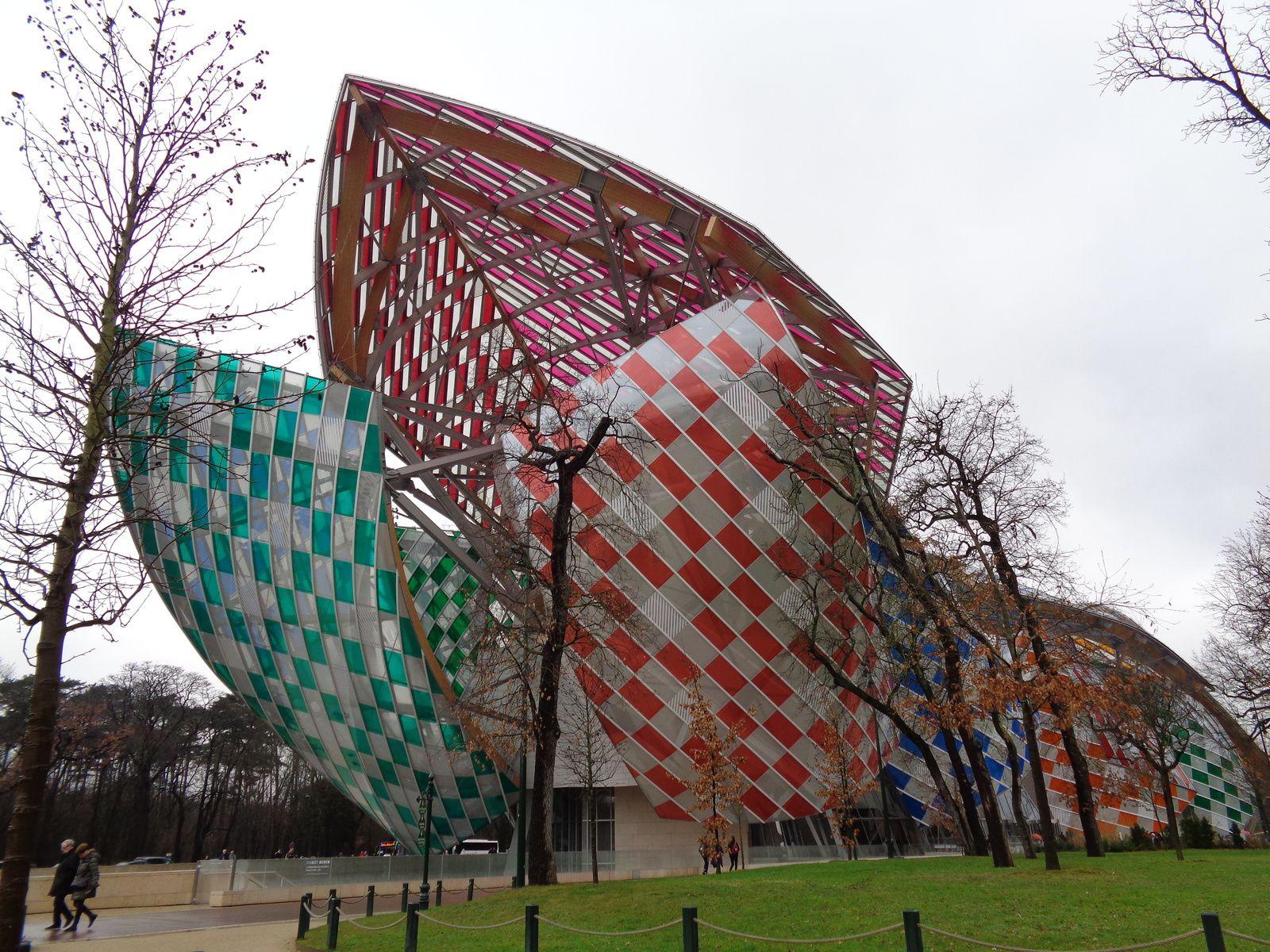 Le bâtiment de la fondation Louis Vuitton