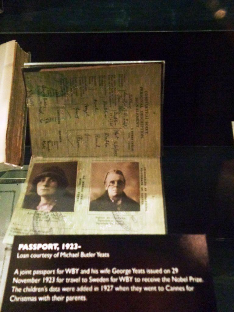 Dublin - Exposition Yeats à la National Library