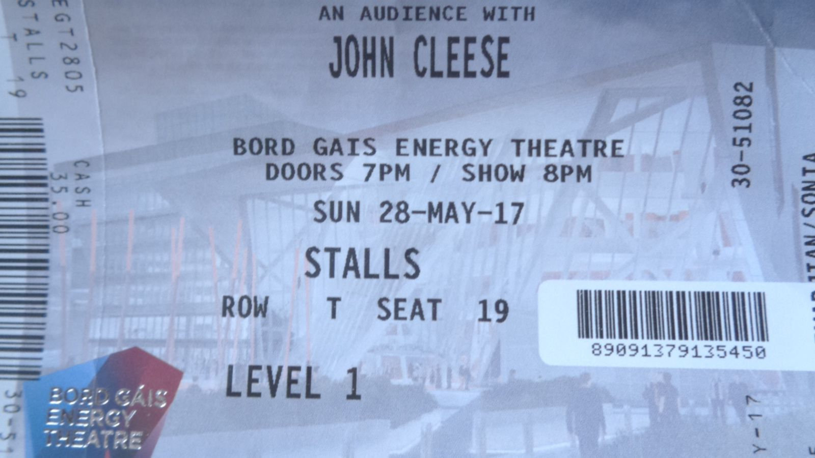Dublin - John Cleese au Bord Gáis Energy Theatre