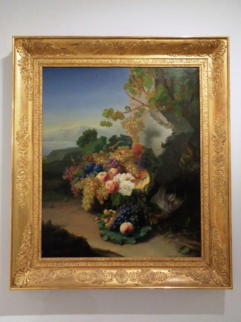 Fruits sur fond de paysage - Jean Georges Hirn - Début 19e siècle