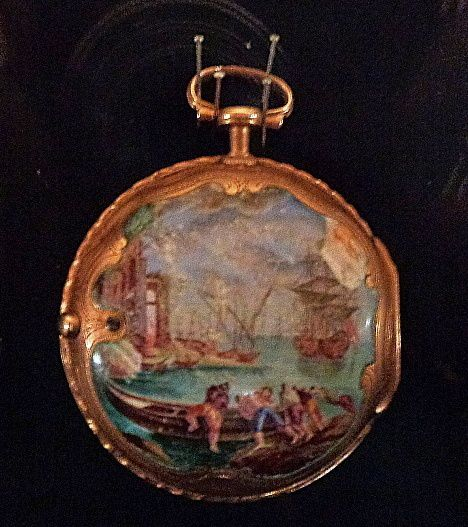 Montre de Greuze, avec une marine dans le style de Joseph Vernet.
