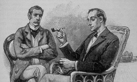 Watson et Holmes, dessinés par Sydney Paget