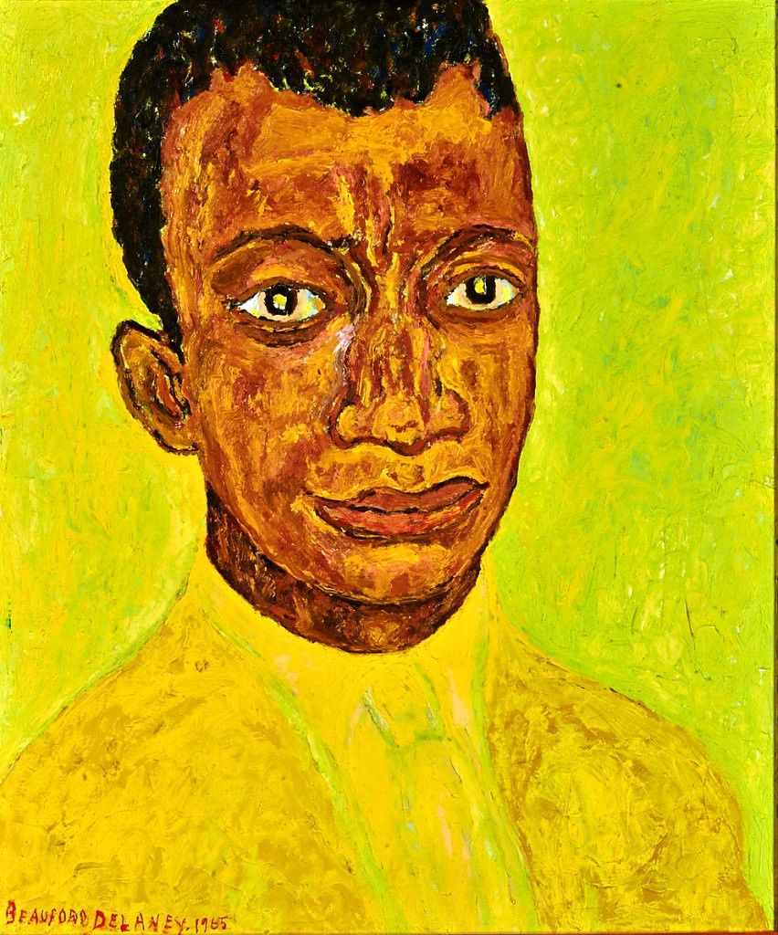 Portrait de James Baldwin par Beauford Delanay  (1965)