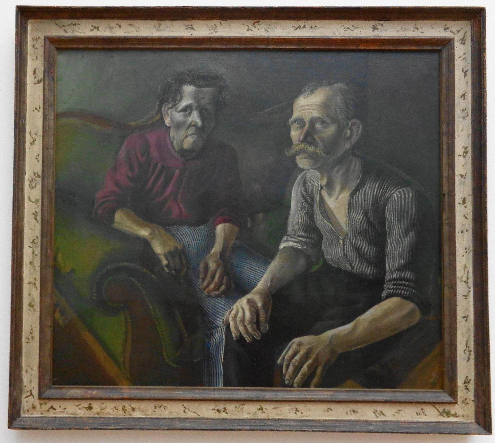 Portrait des parents de l'artiste - Otto Dix - 1921
