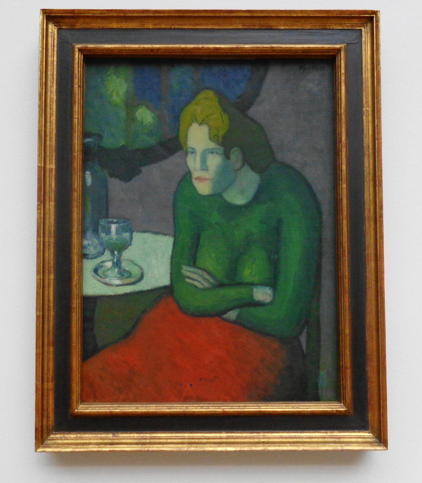 La buveuse d'absinthe - Pablo Picasso - 1901