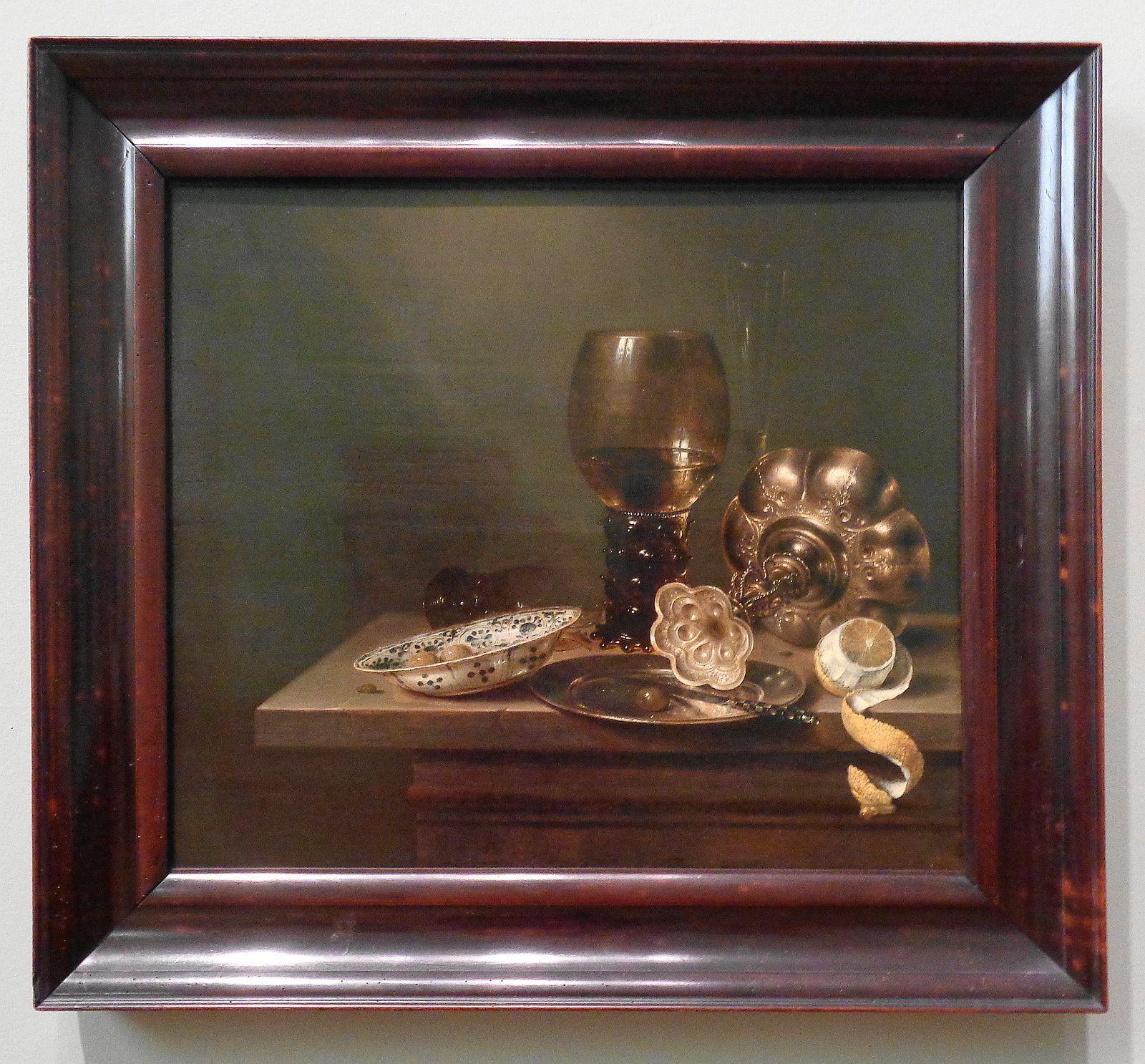 Nature morte avec assiette et coupe - Willem Claesz Heda - 1649