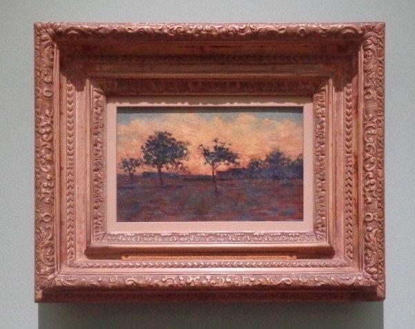 Coucher de soleil  - Georges-Pierre Seurat, 1881