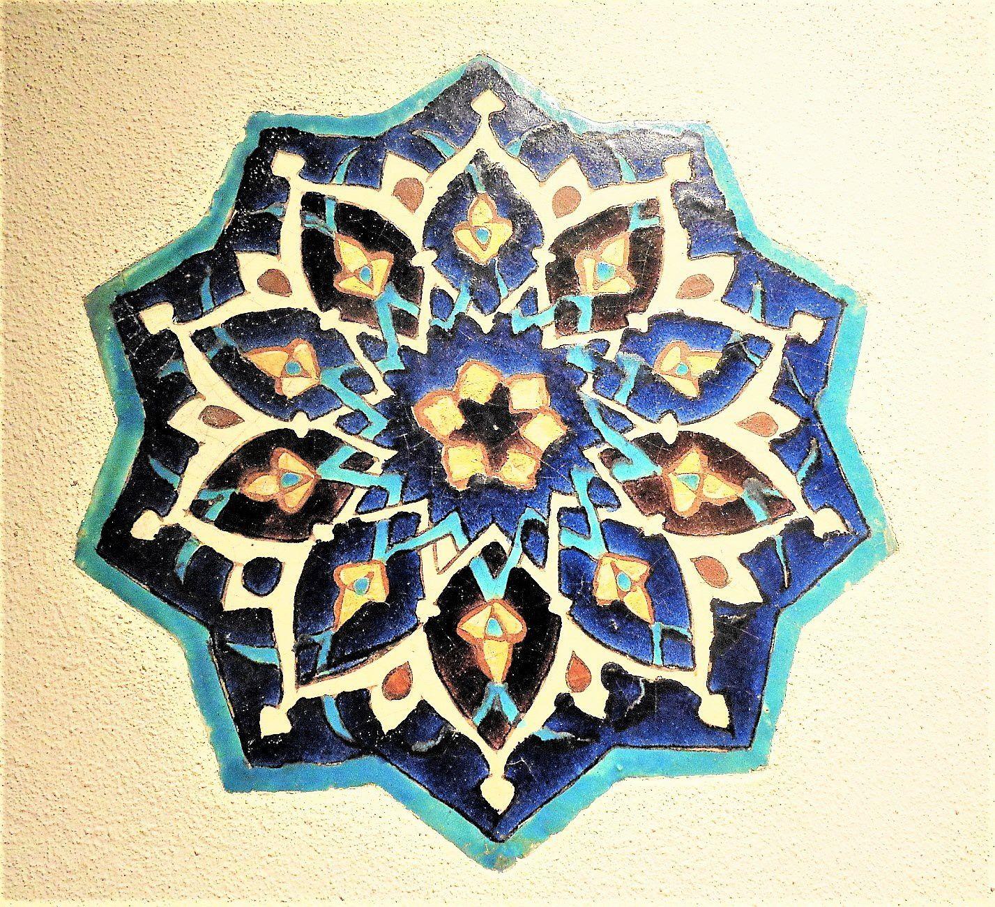Motif en céramique  Perse, 15e siècle