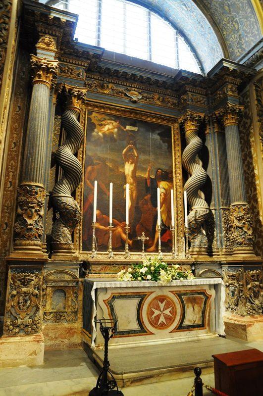 Malte - La Valette :  la co-cathédrale Saint-Jean