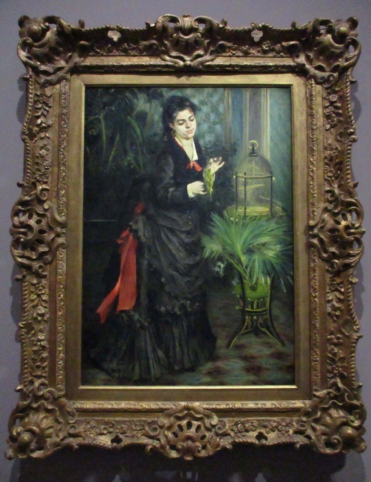 La femme à la perruche - Pierre-Auguste Renoir, 1871