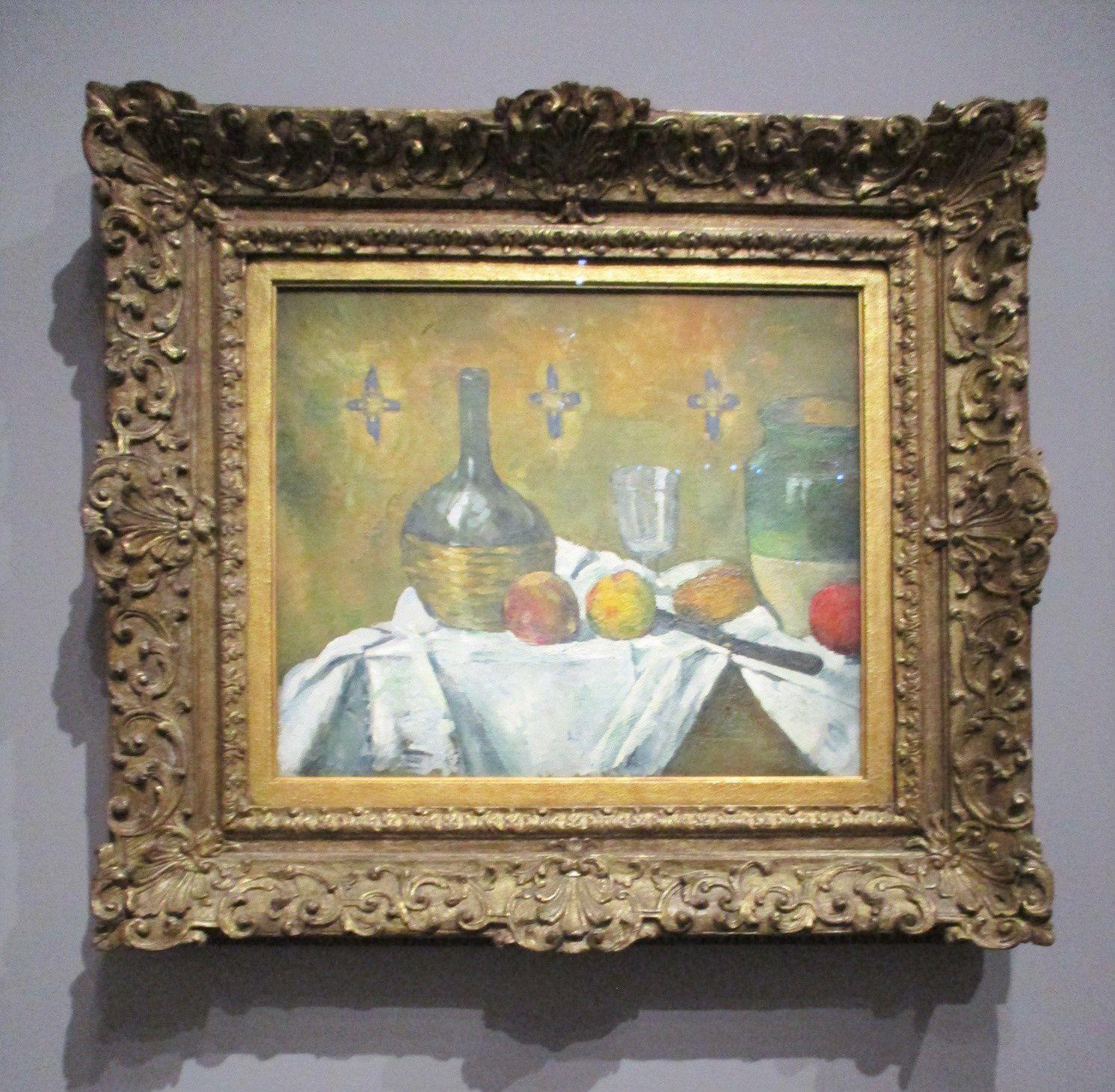 Fiasque, verre et poterie - Paul Cézanne, vers 1877