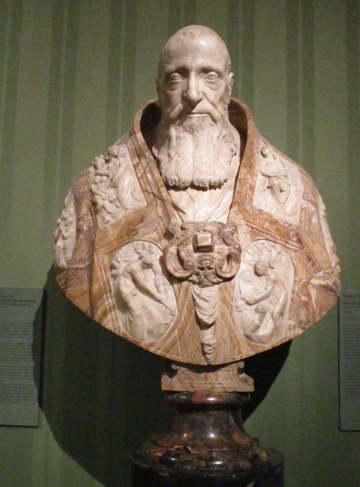 Paolo III - Marbre et albâtre - Guglielmo della Porta, vers 1560