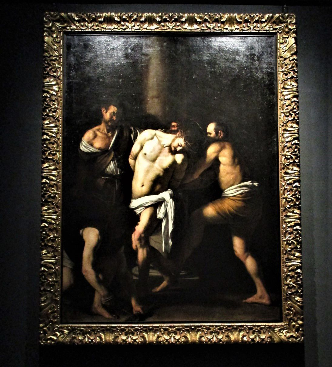 La flagellation du Christ - Le Caravage, 1607