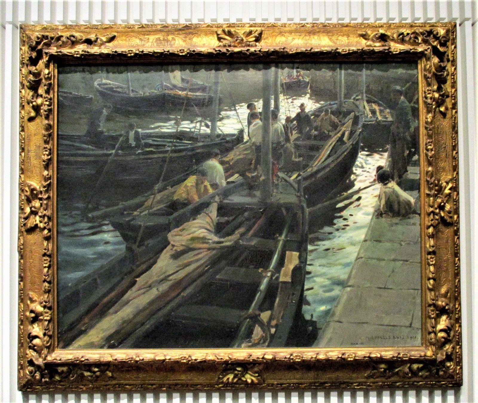 Retour de pêche - Enrique Martínez-Cubells y Ruiz Diosayuda, 1911