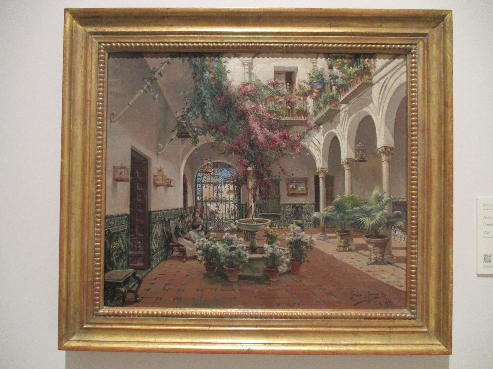 Patio à Séville -  Manuel Garcia Rodriguez, 1920