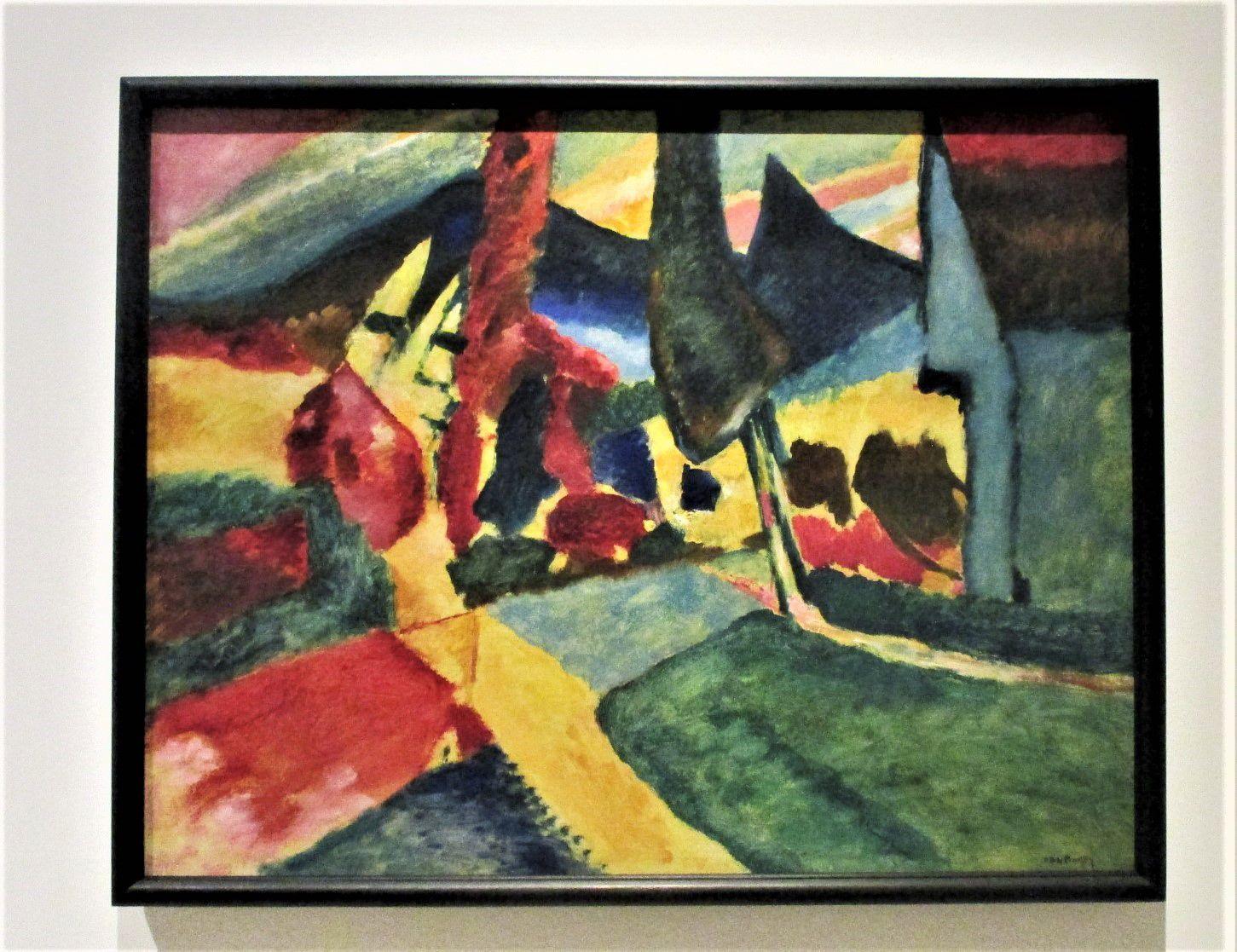Paysage aux deux peupliers - Vassili Kandinsky, 1912