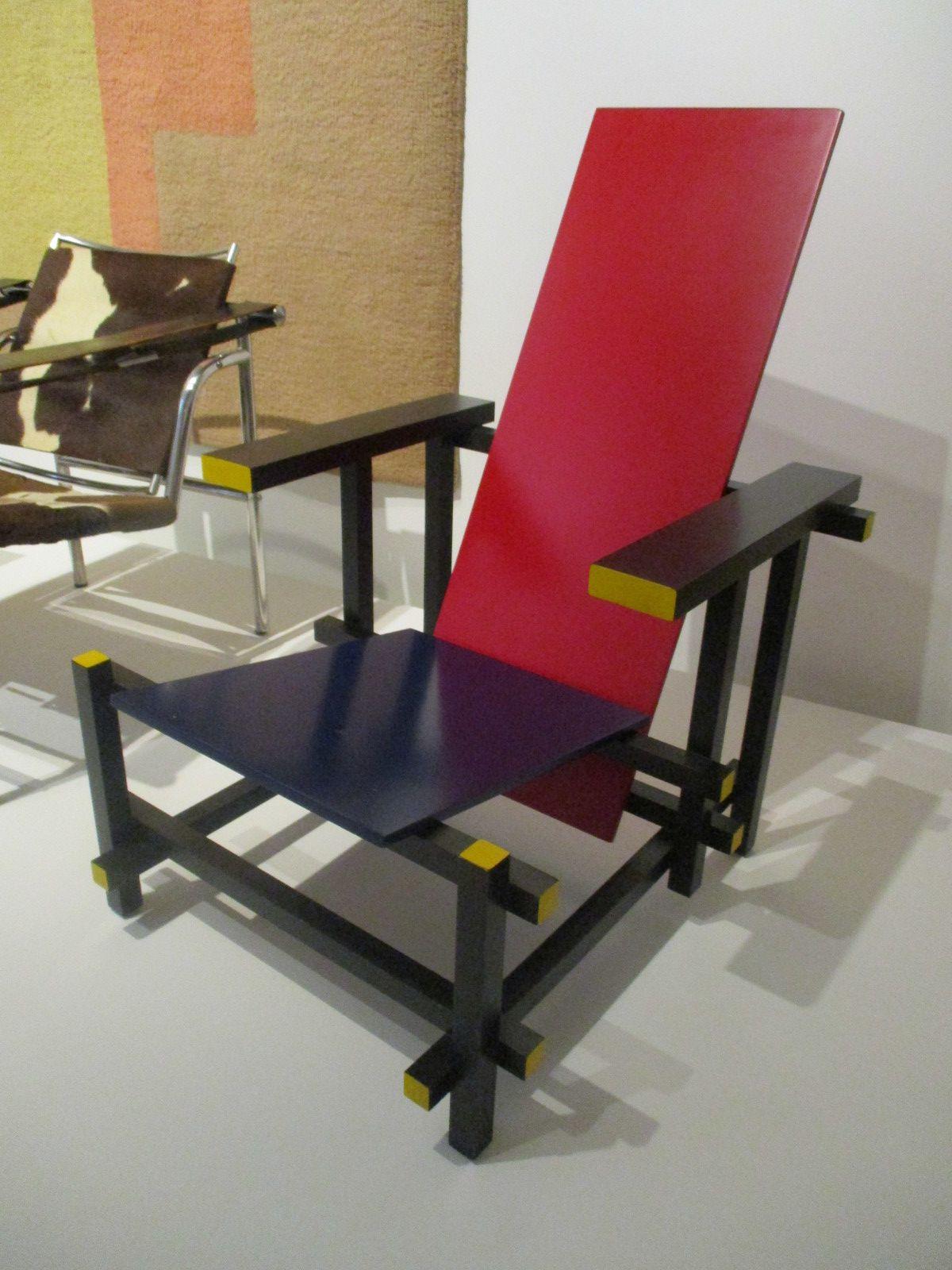 Chaise rouge et bleu - Gerrit Thomas Rietveld, 1923