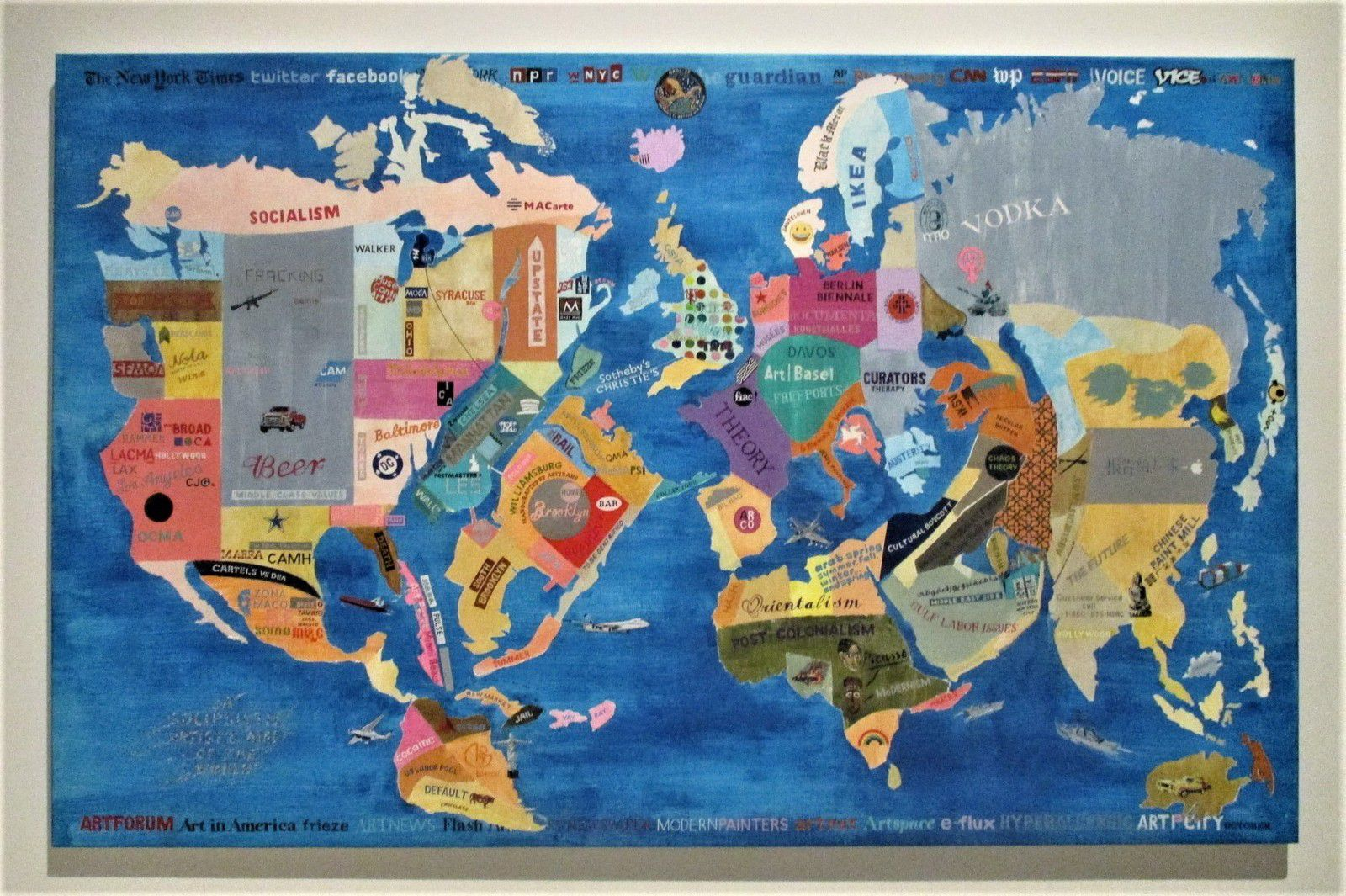 Carte du monde selon un artiste solipsiste - William Powehida, 2015