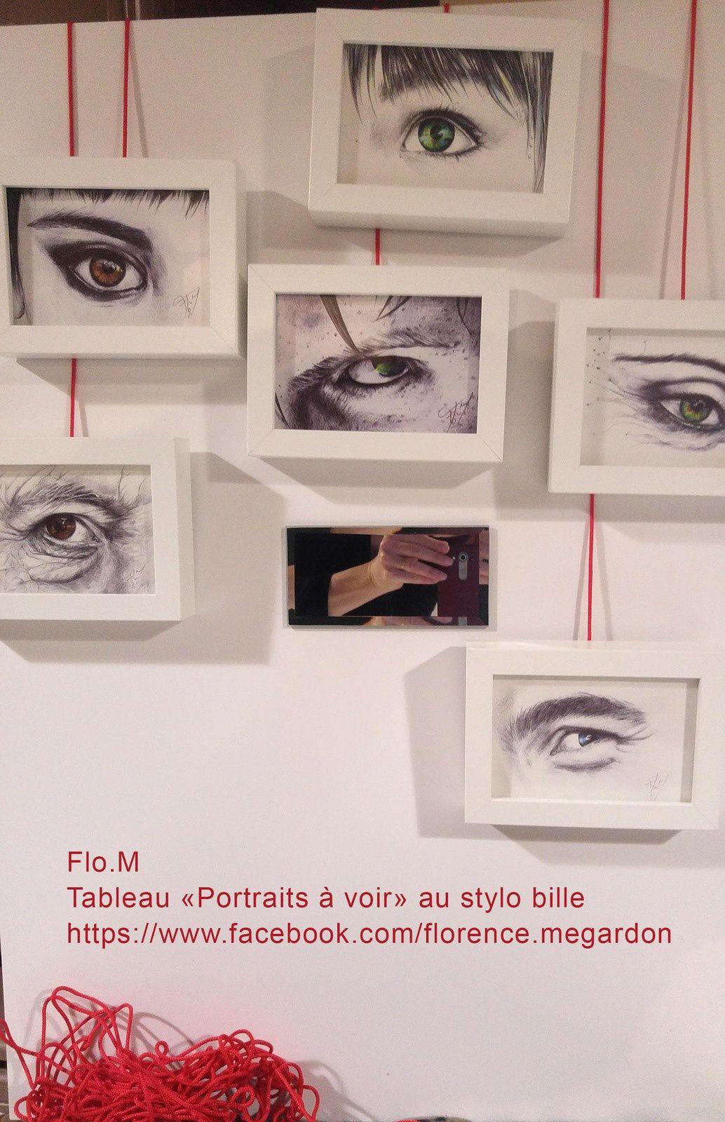 Exposition sur le Portrait à la Galerie du Hall de La Petite Rue avec Flo.M