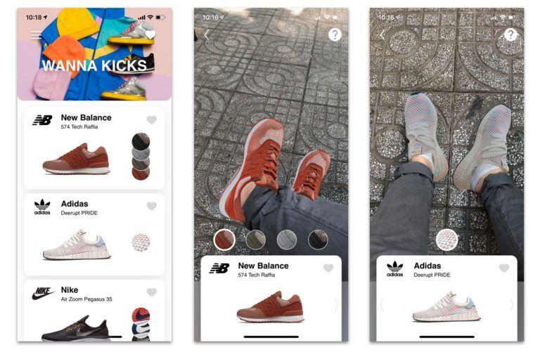 A tester! Wanna Kicks utilise la réalité augmentée pour vous faire essayer des baskets