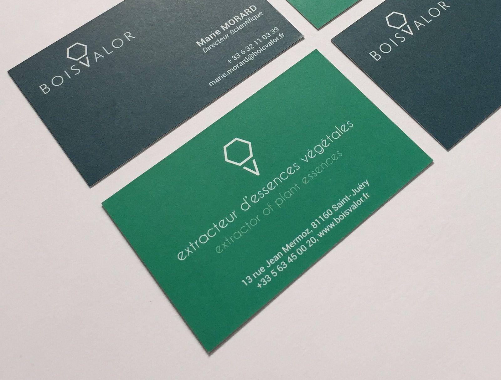 Création d'identité de marque pour BOISVALOR