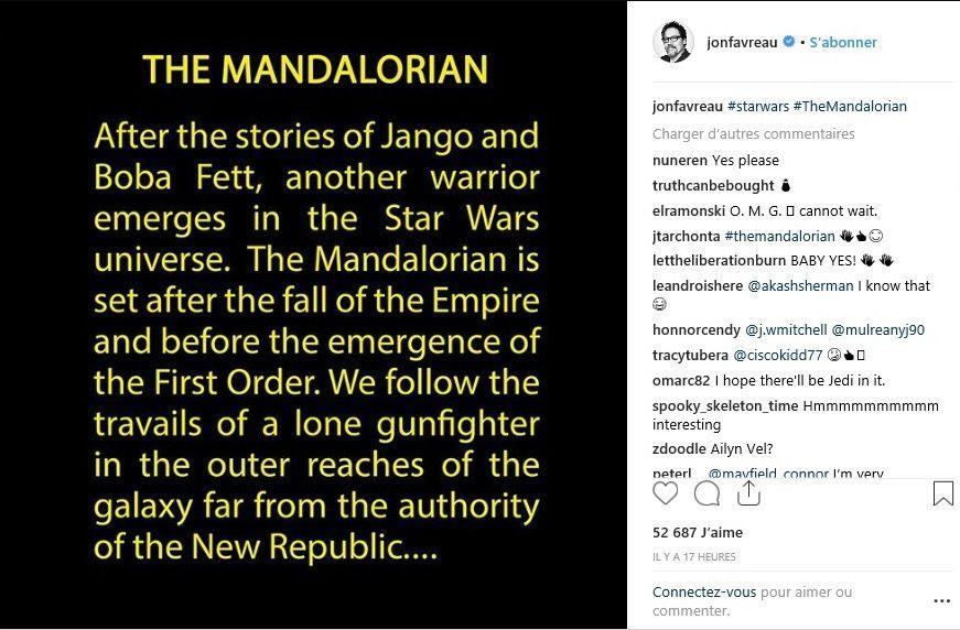 La série Star Wars de Jon Favreau a un titre....