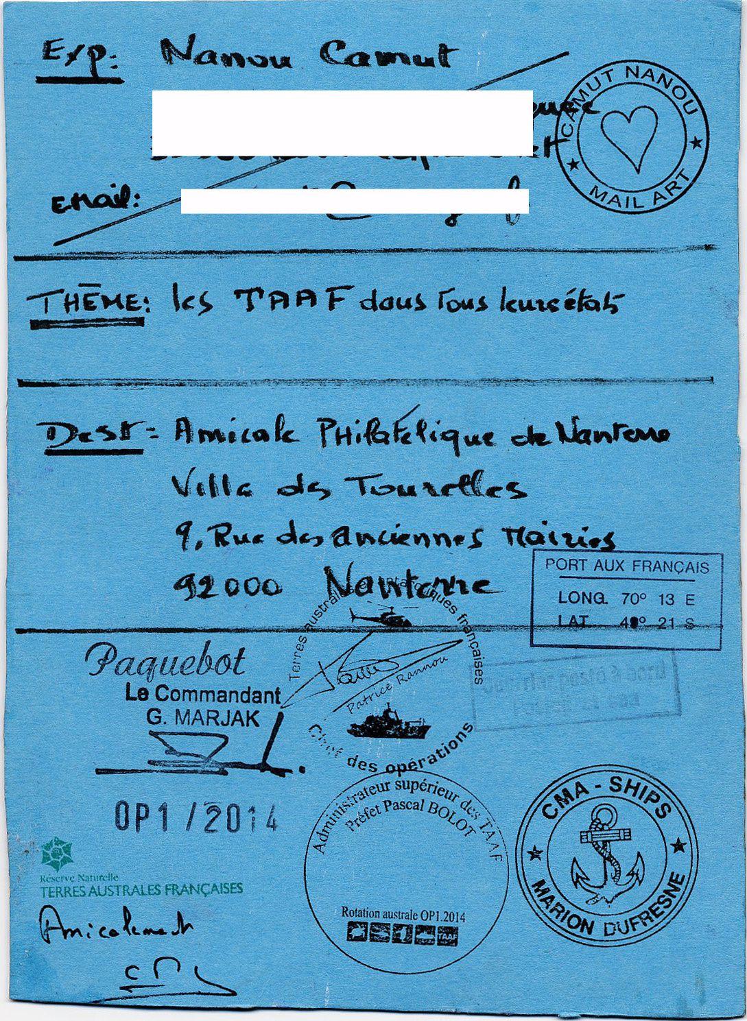 Le retour du Mail Art des TAAF