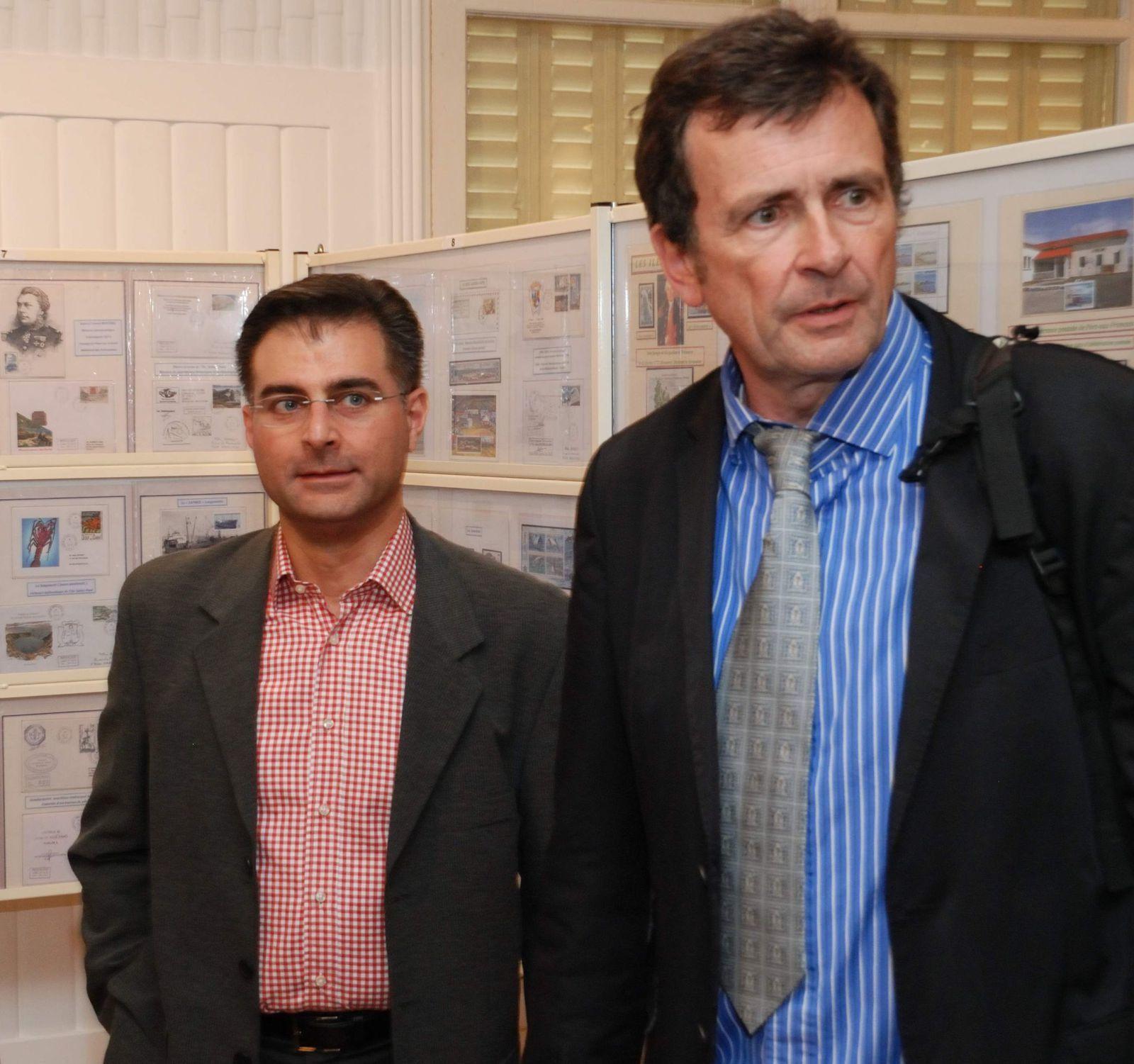 Maxime Aimetti, Chef de District en Terre Adélie et Pierre Jullien.