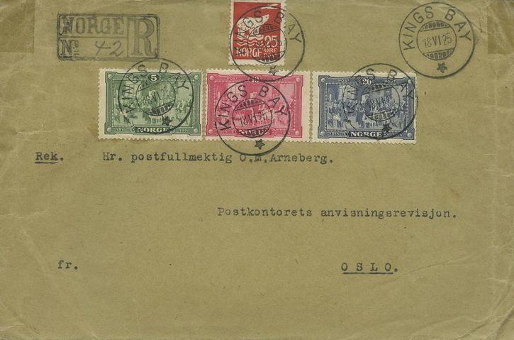 Lettre recommandée du 18 juin 1925. TAD Kings Bay