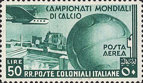 Fig.21: émission du 21 juin 1934, émise pour célébrer la victoire italienne en Coupe du Monde