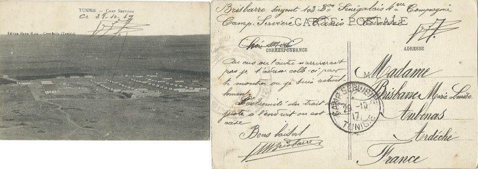 Camp de Serviére - carte postale