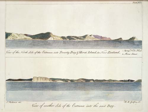 Jock Phillips, 'Perceptions of the landscape - First approaches – the 18th century', Te Ara - the Encyclopedia of New Zealand, http://www.TeAra.govt.nz/en/artwork/14295/early-views-of-poverty-bay