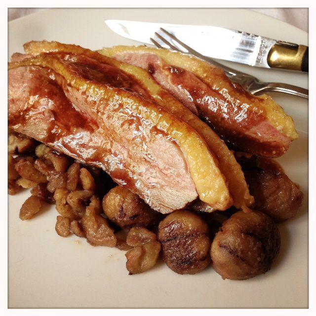Recette Best Off 2013 : Magret de canard à la vergeoise et châtaignes