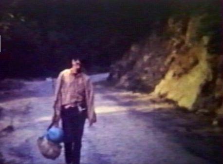 Joël CALDERONI à St Marcel, de retour de Camputile, en 1966.