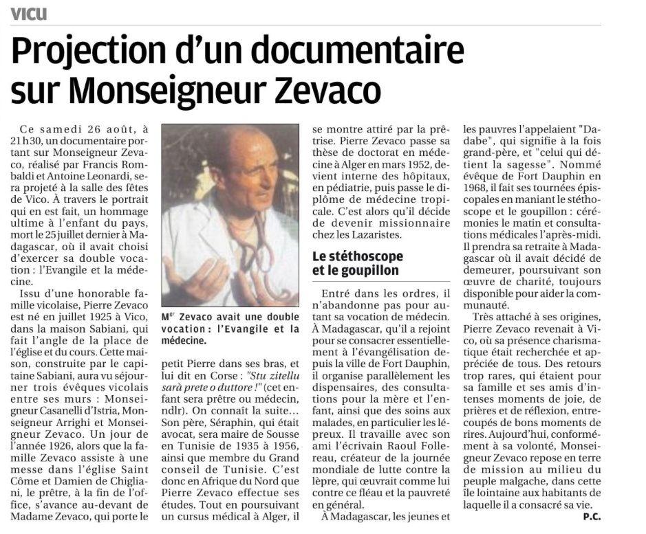 Un film sur Monseigneur Zevaco