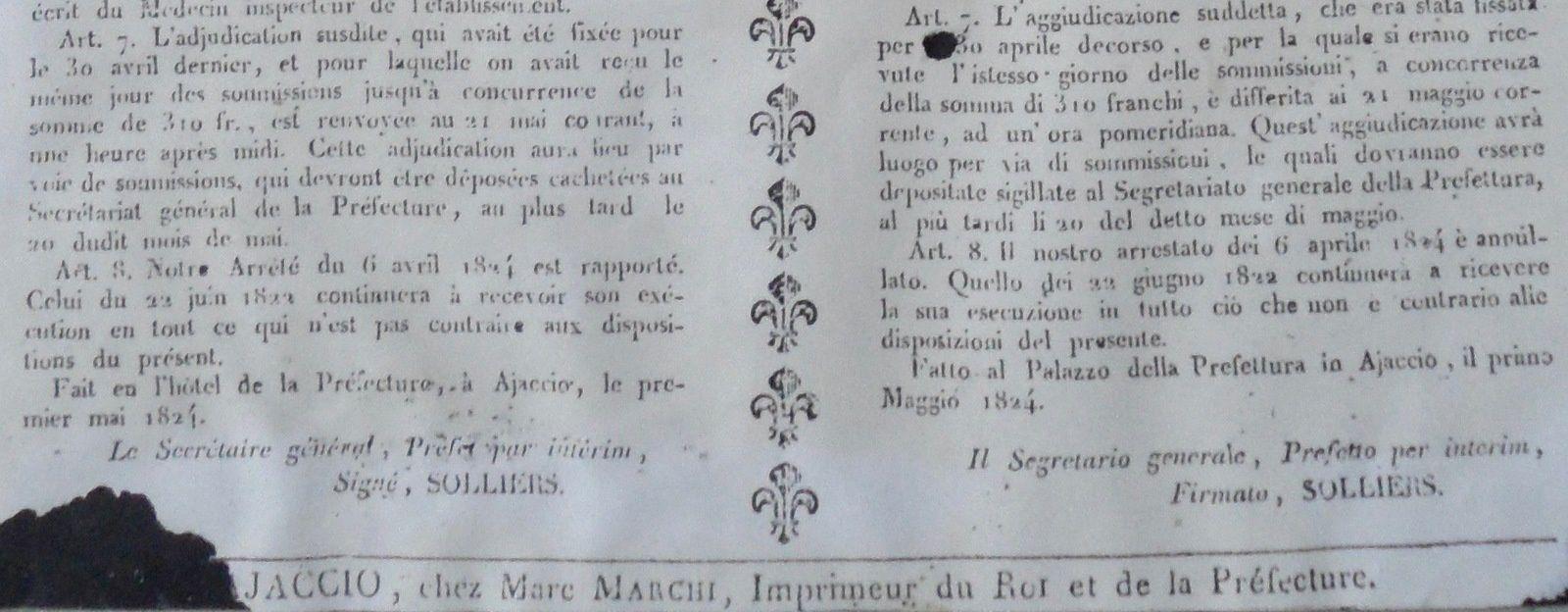 L'utilisation de deux langues a déjà existé à Guagno-les-Bains et à Poggiolo
