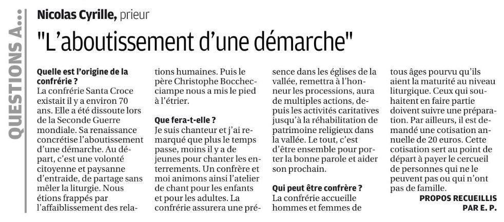 """article paru dans """"Corse-Matin"""" du 5 mars 2018. Cliquer pour l'agrandir."""