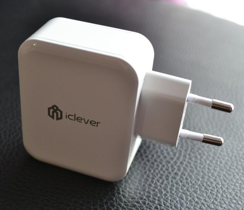 Le chargeur 3 sorties régulées en intensité grâce  à la technologie SmartID de chez Iclever