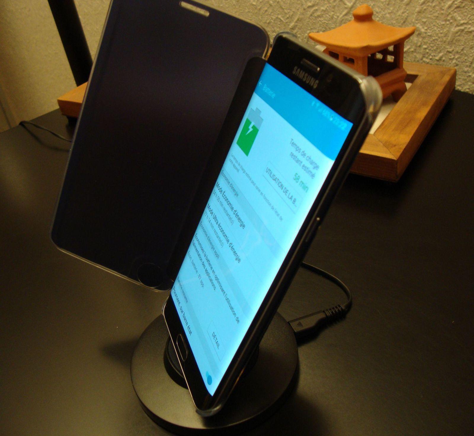 Le chargeur Inductif Brainwizz en image...Et en action sur Mobile S6