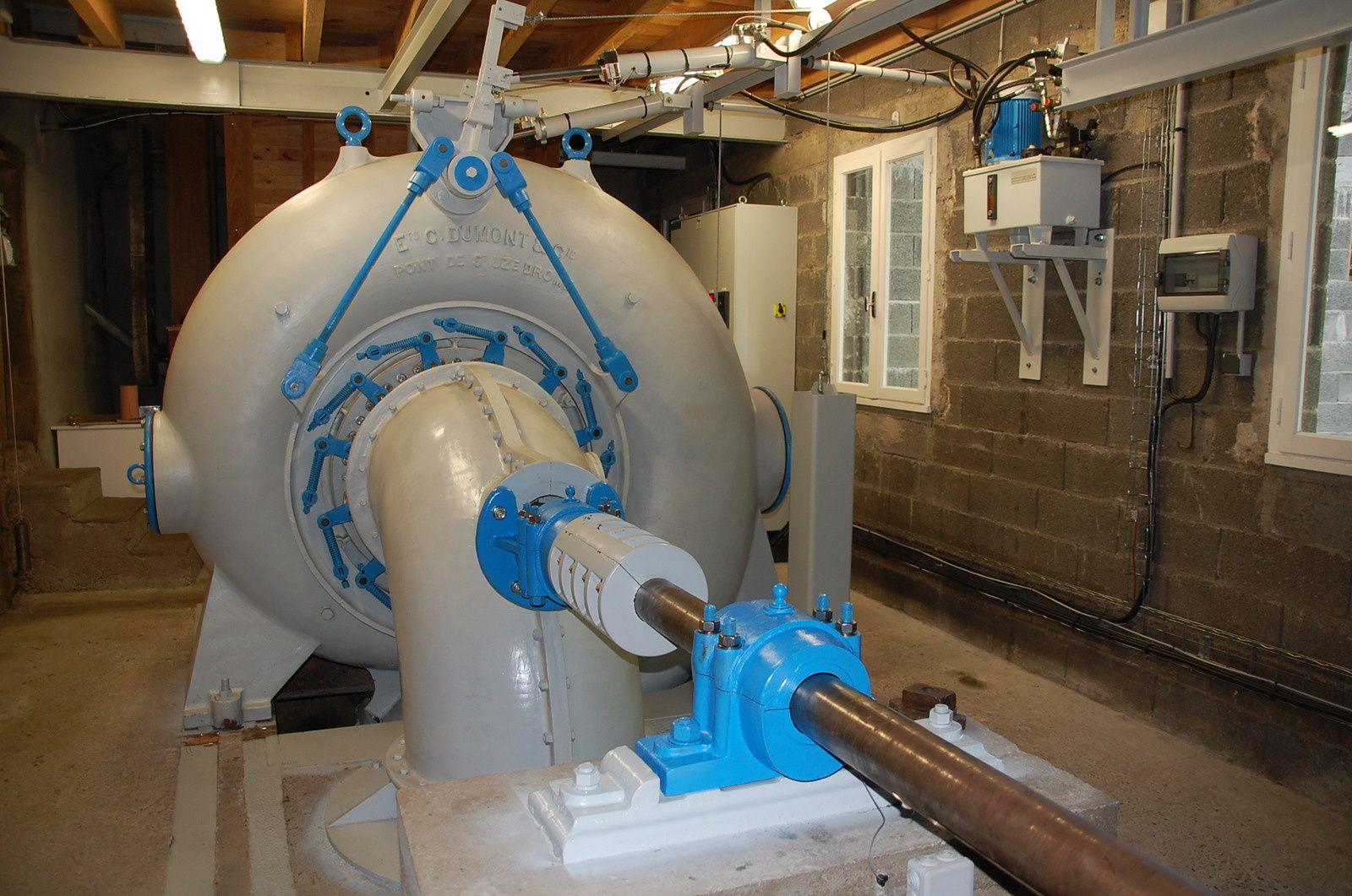 La turbine, génératrice d'électricité.