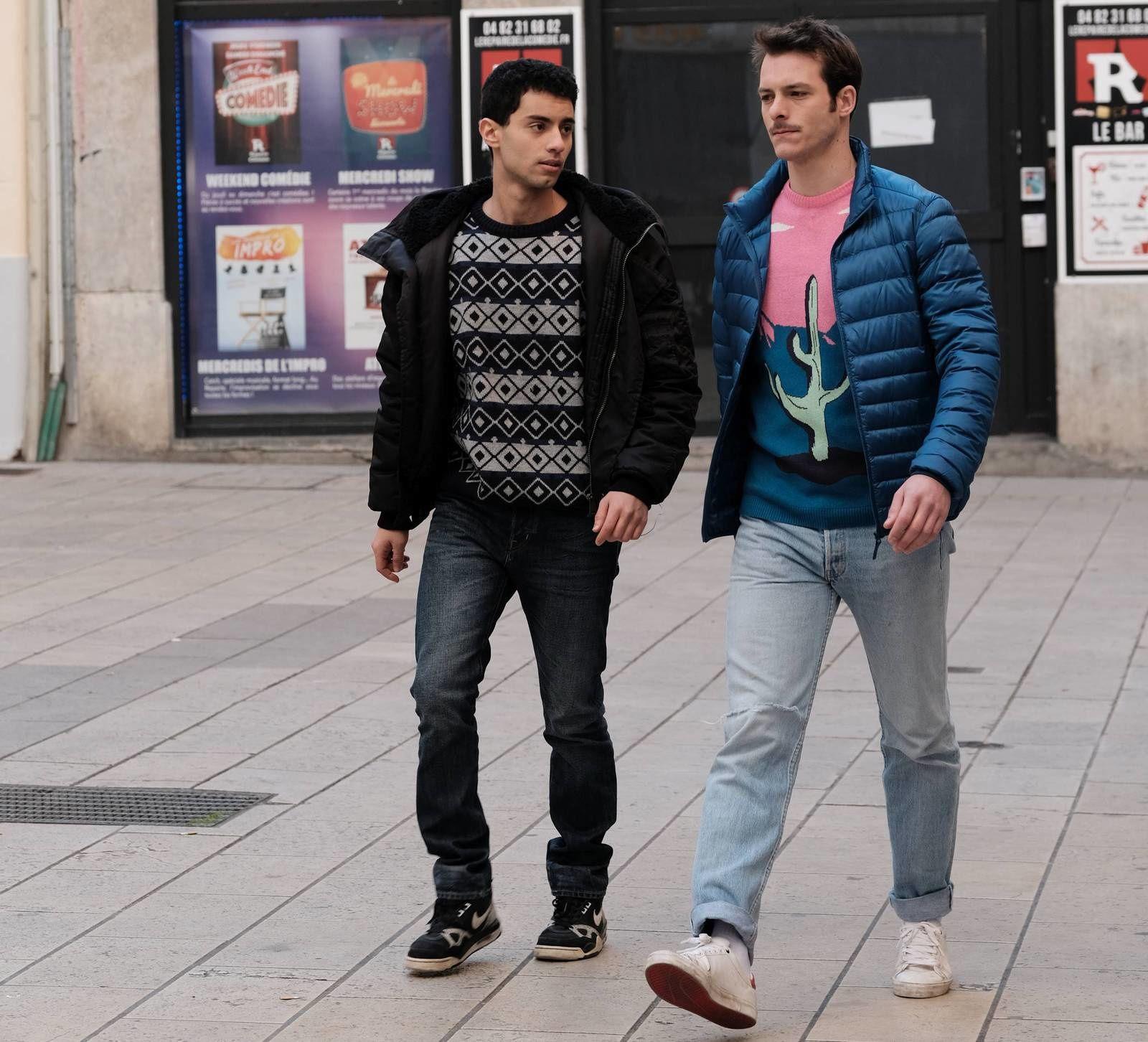 Mehdi MESKAR (dans le rôle d'Hicham) et Eric PUCHEU (dans le rôle de Thibaut). [Photos de Clément Caudal]
