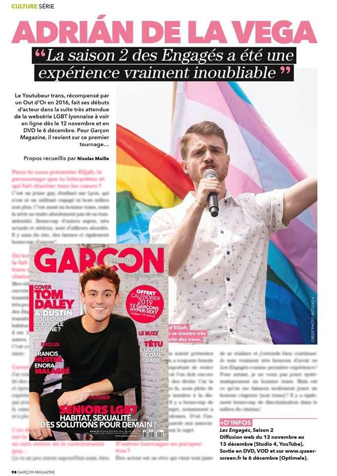 Adrian de la Vega, Garçon Magazine