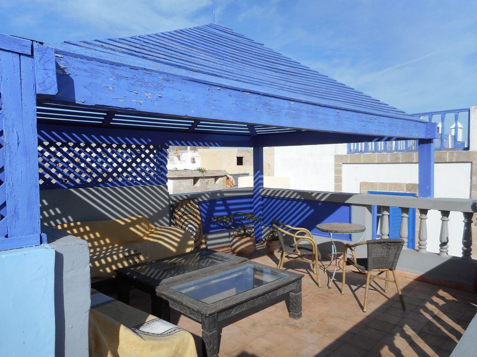 Notre petit riad avec sa terrasse ensoleillée pour le petit déjeuner :)