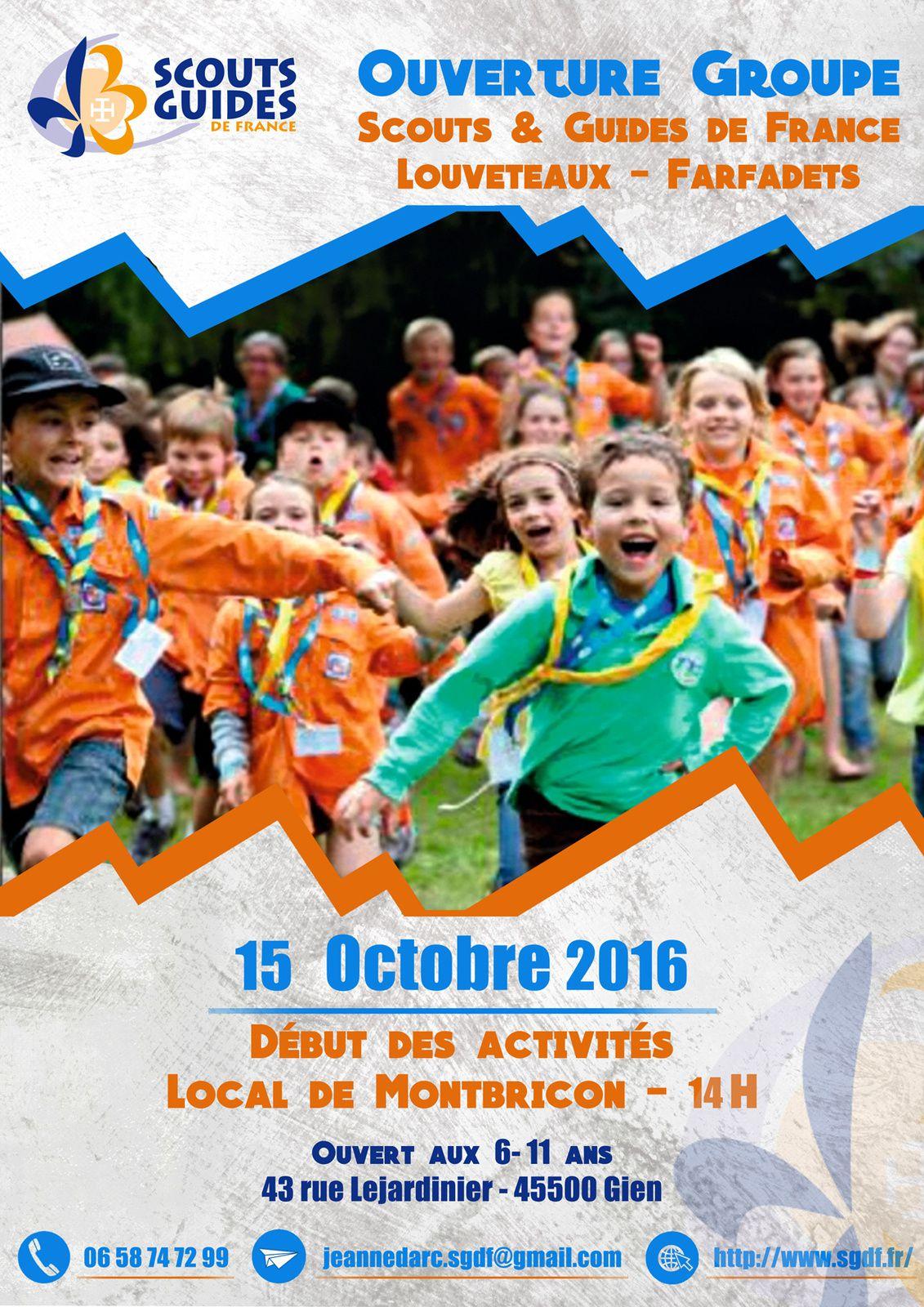 Samedi 15 octobre : Première rencontre des scouts de France 6-11 ans sur Gien