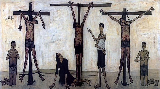 La Passion du Christ  : Crucifixion,  Bernard Buffet (1951-1952)