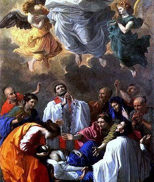 Le miracle de Saint François-Xavier rappelant à la vie la fille d'un habitant de Kagoshima au Japon,   Nicolas Poussin, Musée du Louvre