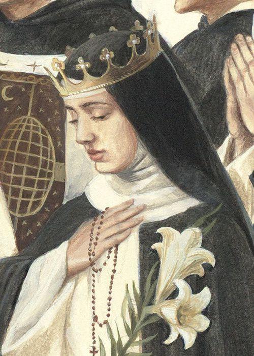 Sainte Marguerite de Hongrie, Bernadette Carstensen Illustration Dominicans, http://www.bernadettecarstensen.com/dominicans/