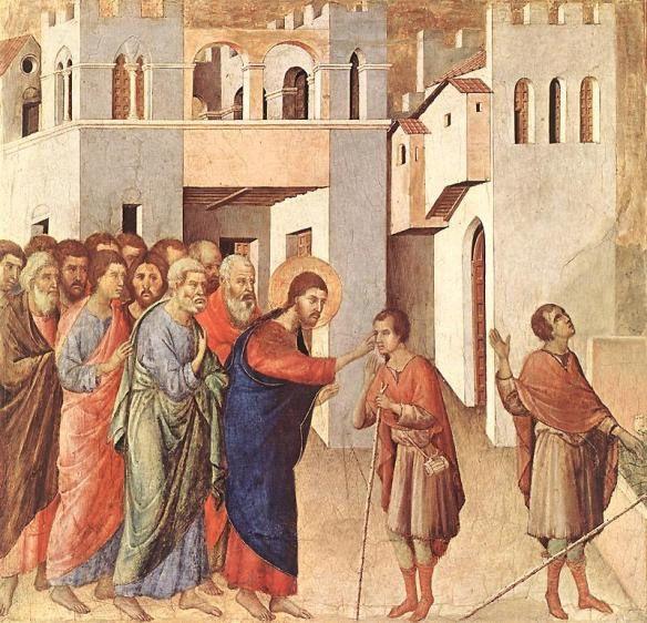 Lorsque Jésus passait il vit un homme qui était aveugle dès sa naissance